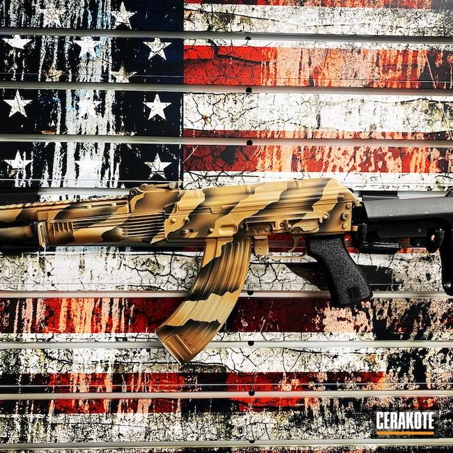 Cerakoted: S.H.O.T,Sniper Grey H-234,ChoppaTactical,MAGPUL® FLAT DARK EARTH H-267,Desert,BARRETT® BROWN H-269,Burnt Bronze H-148,AK-47,Conflict Series
