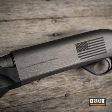 Benelli Shotgun Cerakoted Using Tungsten