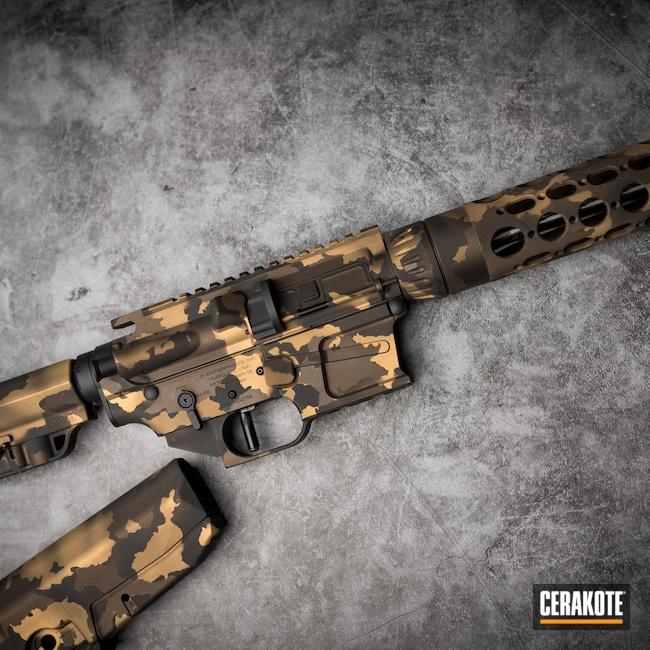 Cerakoted: S.H.O.T,Burnt Bronze H-148,Armor Black H-190,AR Build,Gold H-122