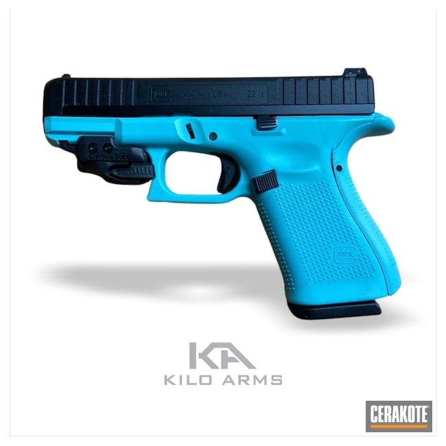 Cerakoted: S.H.O.T,Glock 44,Robin's Egg Blue H-175,Pistol,Glock,G44,.22,Handgun