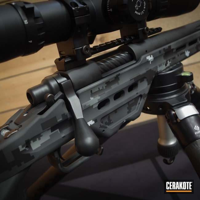 Cerakoted: S.H.O.T,Masterpiece Arms,6.5 Creedmoor,Digicam,Graphite Black H-146,BATTLESHIP GREY H-213,Bull Shark Grey H-214,Remington 700