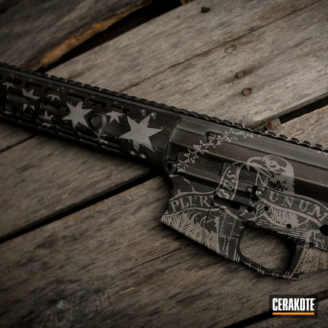 Cerakoted: S.H.O.T,AR15 Builders Kit,Tungsten H-237,Armor Black H-190
