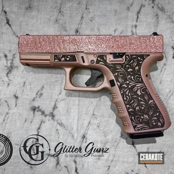 Glittered Glock 19 Cerakoted Using Rose Gold