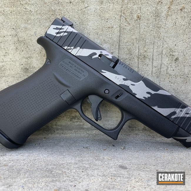 Cerakoted: Glock 48,S.H.O.T,9mm,Armor Black H-190,Gun Metal Grey H-219