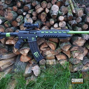 Ar Build Cerakoted Using Stormtrooper White, Habanero Red And Zombie Green
