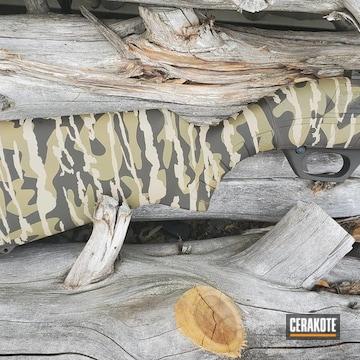 Custom Camo Remington 887 Cerakoted Using Mcmillan® Tan
