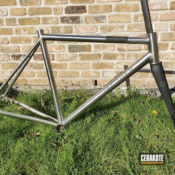 Jaegher Bike Frame Cerakoted Using Highland Green And Graphite Black