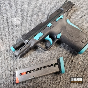 Smith & Wesson M&p Cerakoted Using Aztec Teal