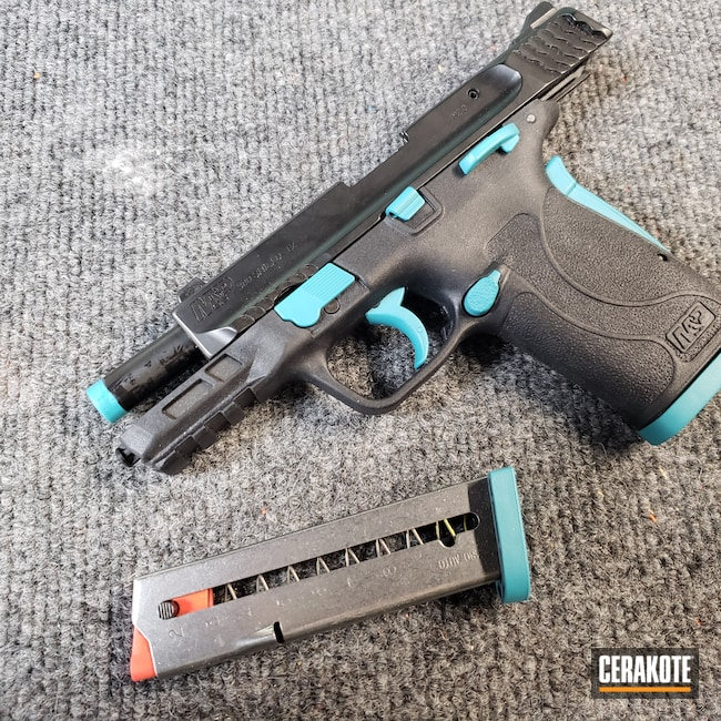 Cerakoted: S.H.O.T,AZTEC TEAL H-349,Smith & Wesson,.380,Pistol,S&W