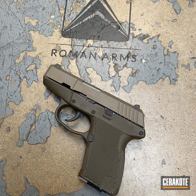Cerakoted: S.H.O.T,9mm,Kel-tec P-11,MAGPUL® FLAT DARK EARTH H-267,Patriot Brown H-226,KelTec,Pistol,Handguns,Kel-Tec
