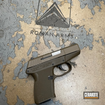 Kel-tec P-11 Pistol Cerakoted Using Patriot Brown And Magpul® Flat Dark Earth