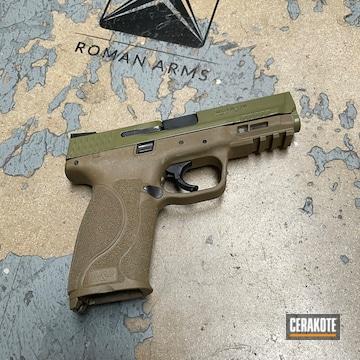 Smith & Wesson M&p Cerakoted Using Noveske Bazooka Green