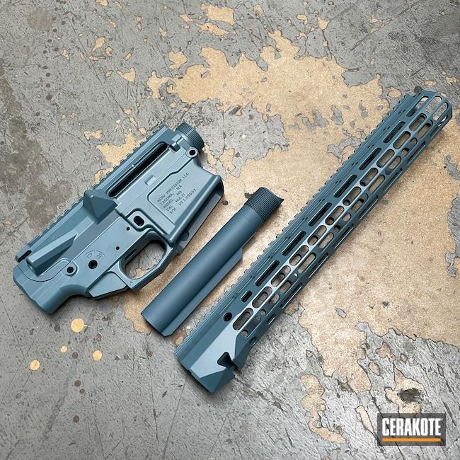 Cerakoted: S.H.O.T,Aero Precision,Upper / Lower,Aero Precision M5,AR-10,Upper / Lower / Handguard,Jesse James Civil Defense Blue H-401,AR-10 Builders Set