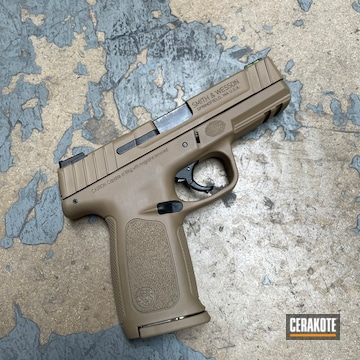 Smith & Wesson Sd9 Cerakoted Using Coyote Tan
