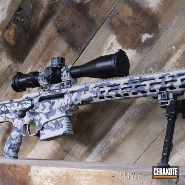 Cerakoted: Bright White H-140,S.H.O.T,Bolt Action Rifle,Barrett,MRAD,Bolt Action,Desert Sand H-199,BATTLESHIP GREY H-213,MULTICAM® DARK GREY H-345