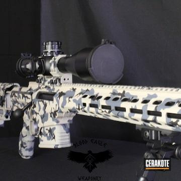 Custom Camo Ar Cerakoted Using Multicam® Dark Grey, Desert Sand And Bright White