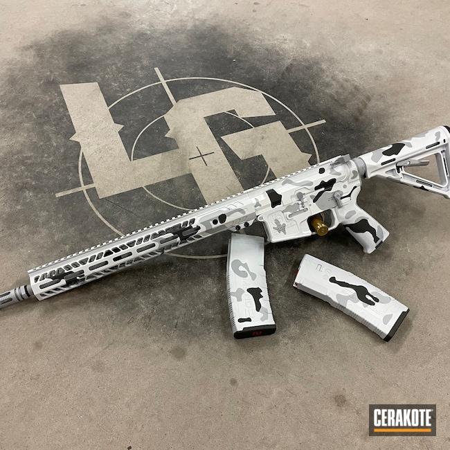 Cerakoted: S.H.O.T,AR,Stormtrooper White H-297,GLOCK® GREY H-184,BATTLESHIP GREY H-213,5.56,AR-15,Snow Camo