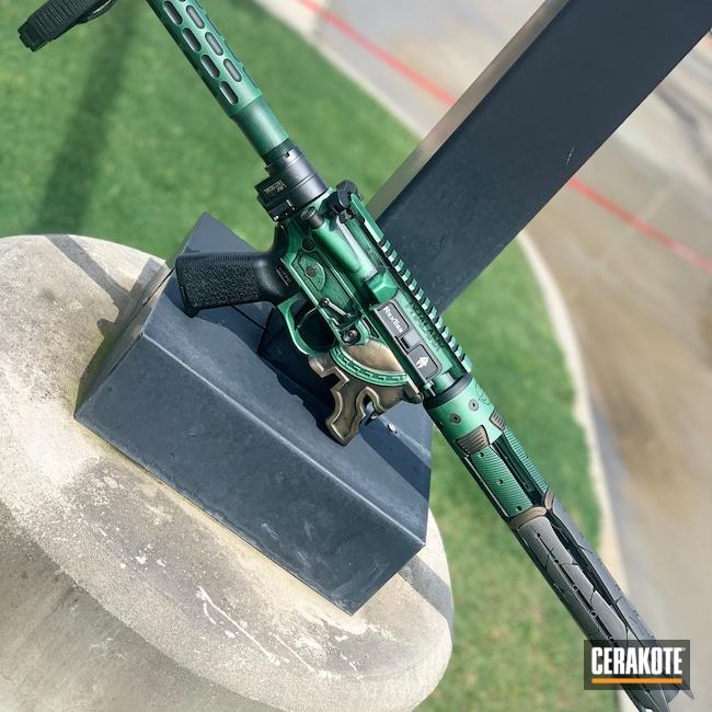 Cerakoted: S.H.O.T,Sword,Spartan,Spike's Tactical,Burnt Bronze,Burnt Bronze H-148,Armor Black H-190,Titanium H-170,SQUATCH GREEN H-316,Green,Spartan Worn,Custom AR