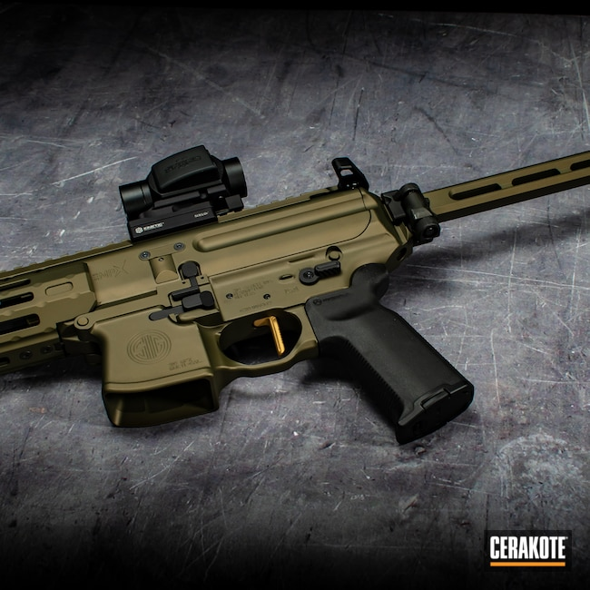 Cerakoted: S.H.O.T,MPX,Graphite Black H-146,Firearm,Sig Sauer,Sig,Match Anodized