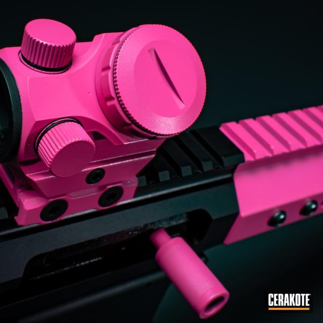 Cerakoted: S.H.O.T,AR,Firearm,Prison Pink H-141,HIGH GLOSS ARMOR CLEAR H-300,AR-15