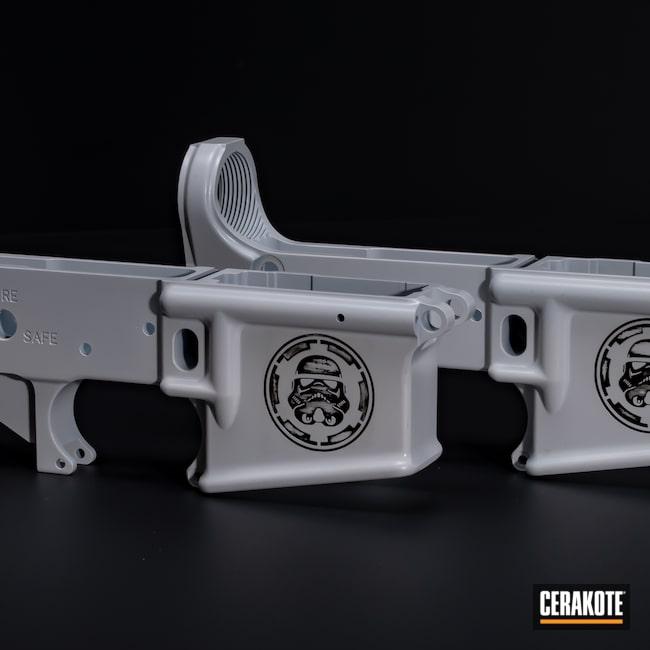 Cerakoted: S.H.O.T,Color Fill,Graphite Black H-146,AR,Stormtrooper White H-297,Firearm,AR-15