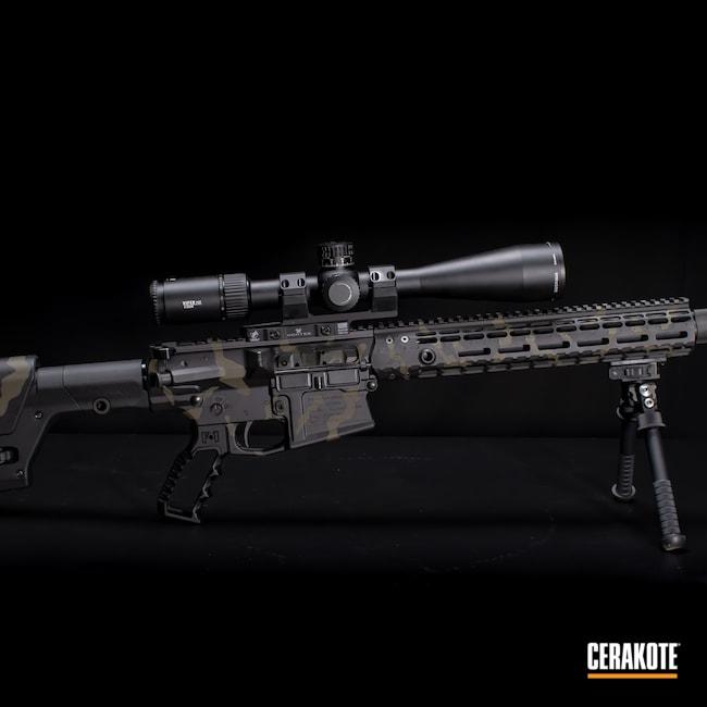 Cerakoted: S.H.O.T,Graphite Black H-146,AR,Firearm,Camo,Forest Green H-248,Custom Camo,AR 10