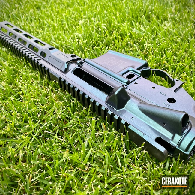 Cerakoted: S.H.O.T,GunCandy Kraken,Del-Ton,HIGH GLOSS CERAMIC CLEAR MC-160,AR-15 Pistol,Firearms,Kraken,GunCandy
