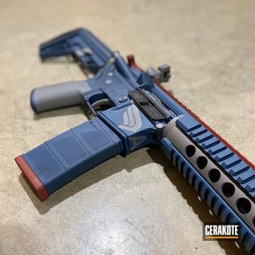 Ar Build Cerakoted Using Kel-tec® Navy Blue, Titanium And Crimson
