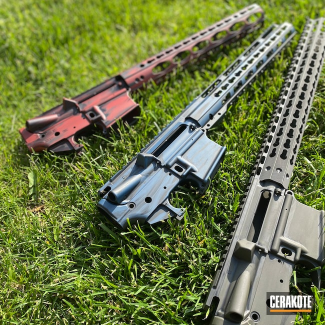 Cerakoted: S.H.O.T,Distressed,Upper / Lower / Handguard,Crimson H-221,O.D. Green H-236,Firearms,Receiver Set,Matrix Aerospace,Battleworn,Graphite Black H-146,KEL-TEC® NAVY BLUE H-127,Blue Titanium H-185,AR-15