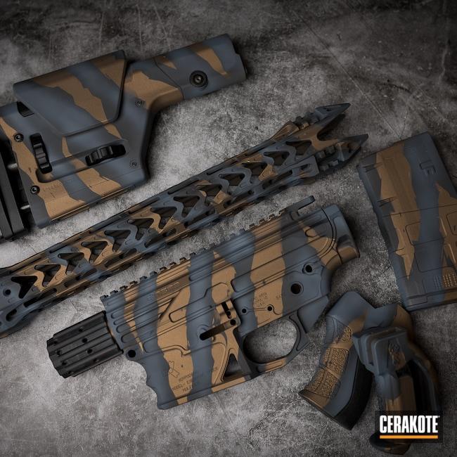 Cerakoted: S.H.O.T,Burnt Bronze H-148,Armor Black H-190,Blue Titanium H-185
