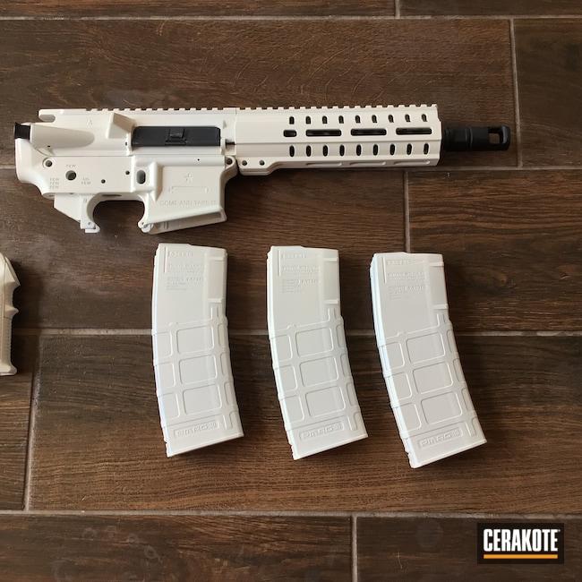 Cerakoted: S.H.O.T,AR,AR-10,Stormtrooper White H-297,.223,AR Upper,AR Parts,AR Build