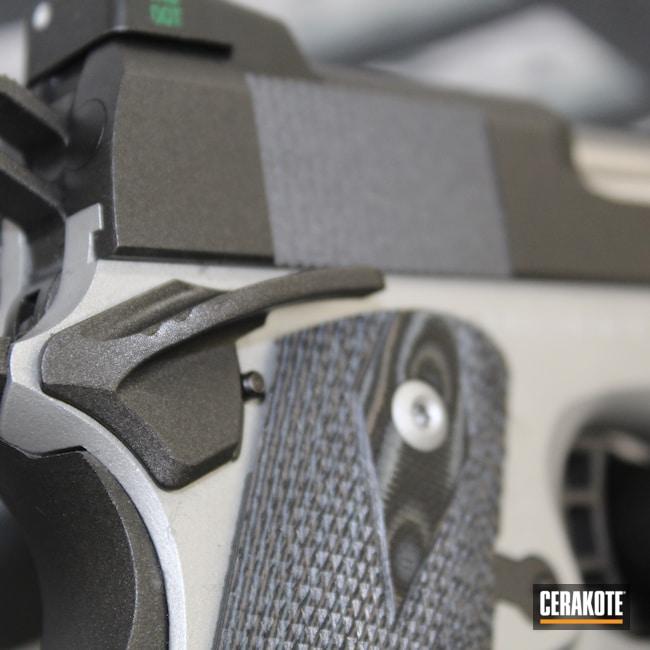 Cerakoted: S.H.O.T,Clean,Two Tone,Satin Aluminum H-151,Pistol,1911,Rock Island,Cobalt H-112,Handgun