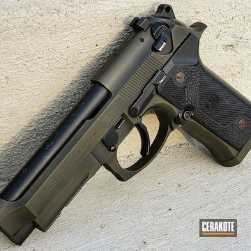 Beretta 1911 Cerakoted Using O.d. Green And Graphite Black