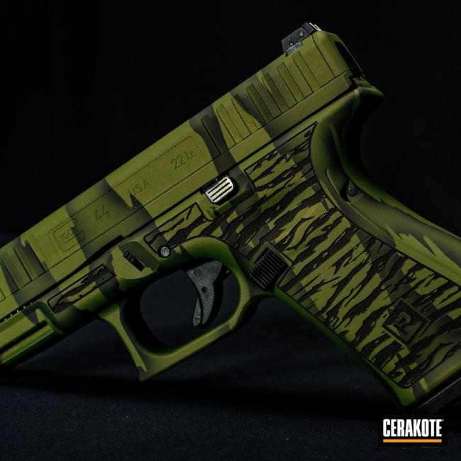 Cerakoted: S.H.O.T,Glock 44,Tiger Stripes,Graphite Black H-146,Firearm,Glock