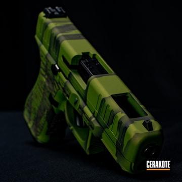 Tiger Stripe Camo Glock 44 Cerakoted Using Graphite Black
