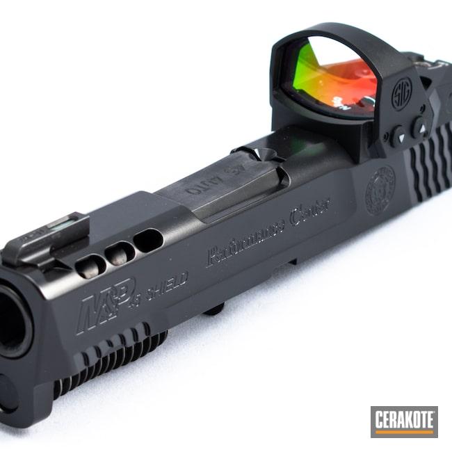 Cerakoted: S.H.O.T,M&P,BLACKOUT E-100,Smith & Wesson,Firearm,Slide