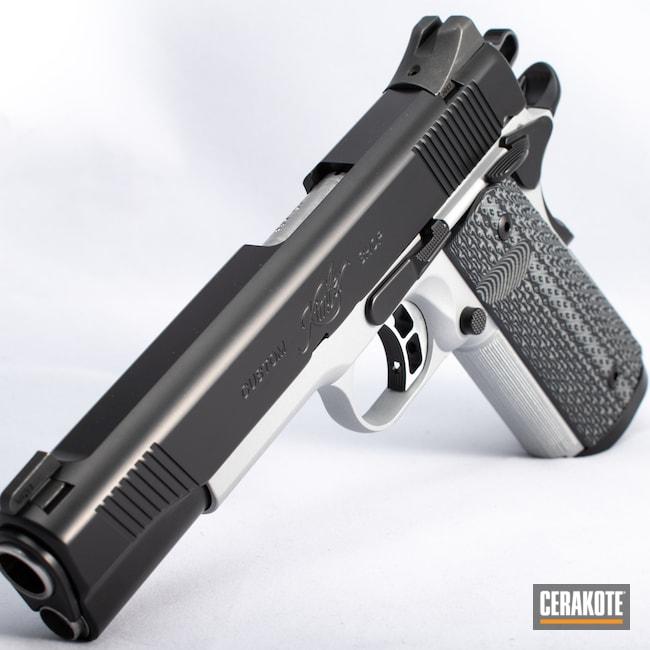 Cerakoted: S.H.O.T,BLACKOUT E-100,Kimber,Firearm,Crushed Silver H-255,1911