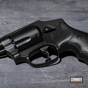 Smith & Wesson Revolver Cerakoted Using Graphite Black