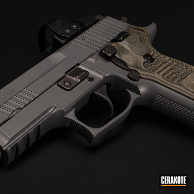 Cerakoted: S.H.O.T,Firearm,P229,Sig Sauer,SIG™ DARK GREY H-210
