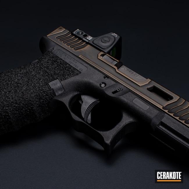 Cerakoted: S.H.O.T,Glock 19,Oil Rubbed Bronze,Graphite Black H-146,Firearm,Burnt Bronze H-148,Glock