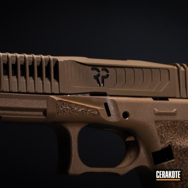 Cerakoted: S.H.O.T,Firearm,Burnt Bronze H-148,FS FIELD DRAB H-30118,Glock,Glock 19X