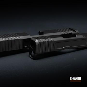 Glock Slides Cerakoted Using Graphite Black