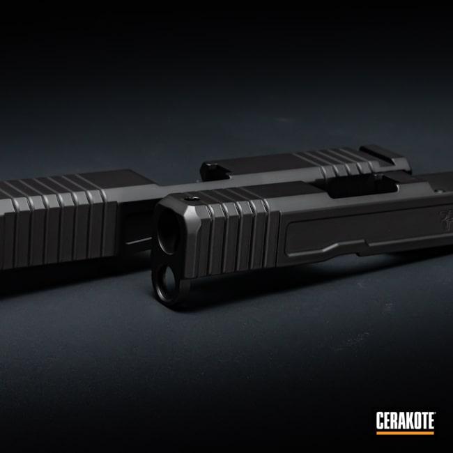 Cerakoted: S.H.O.T,Graphite Black H-146,Glock,Firearms,Slide