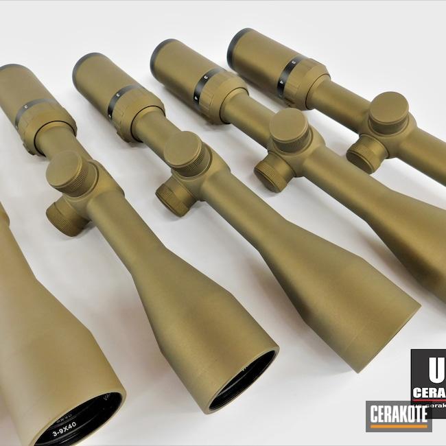 Cerakoted: S.H.O.T,Scope,Scopes,Hawkeye,Optic,Crimson H-221,Burnt Bronze H-148,Rifle Scope,Vintage,Flat Dark Earth H-265,Optics