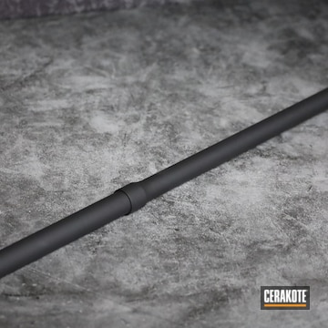 Barrel Cerakoted Using Armor Black