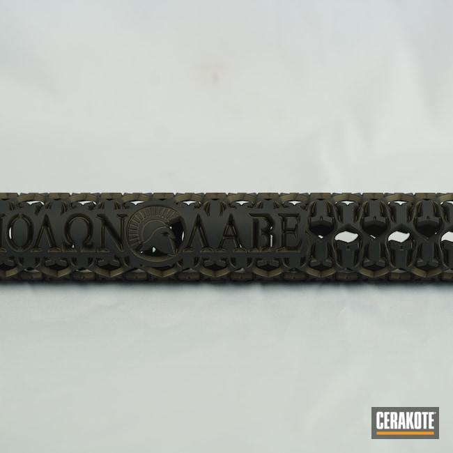 Cerakoted: S.H.O.T,Graphite Black H-146,AR,Handguard,Firearm,Midnight Bronze H-294