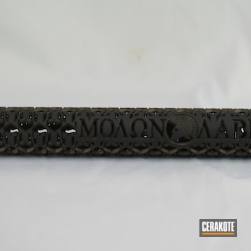 Ar Handguard Cerakoted Using Midnight Bronze And Graphite Black