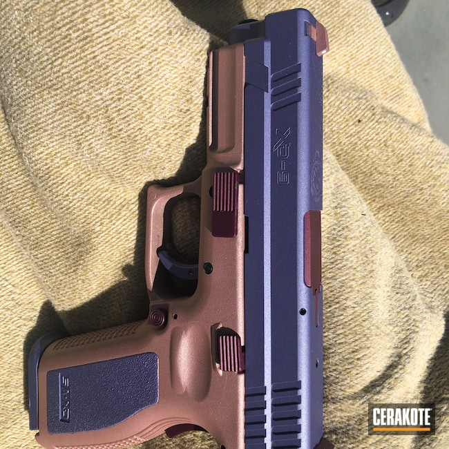 Cerakoted: BLACK CHERRY H-319,Springfield XD,Pistol,CRUSHED ORCHID H-314,ROSE GOLD H-327,.40
