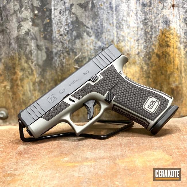 Cerakoted: Glock 43X,Sniper Grey H-234,Stone Grey H-262,GW1 MODEL