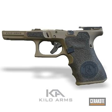 Cerakoted Laser Stippled Handgun In H-146 And H-261